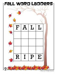 Fall to Ripe Word Ladder