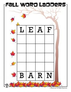 Leaf to Barn Word Ladder
