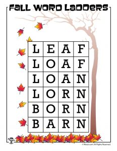Leaf to Barn Word Ladder Answer Key