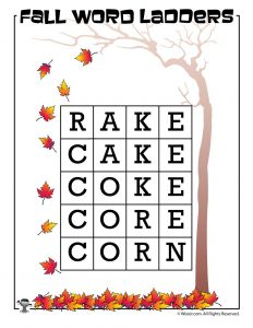 Rake to Corn Word Ladder Answer Key