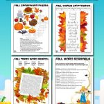 Printable Fall Word Puzzles for Kids