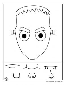 Frankenstein Preschool Halloween Activity Page
