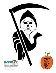 picture relating to Gun Stencils Printable called Skulls and Skeleton Pumpkin Templates toward Carve Woo! Jr