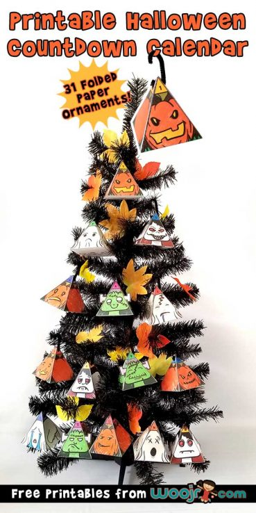 Halloween Countdown Calendar – 31 Printable Monster Ornaments!