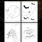 Halloween Dot to Dots Printables
