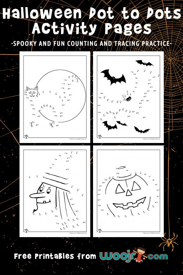 Halloween Dot to Dots Activity Pages