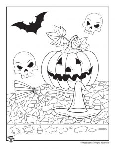 It's just an image of Punchy Halloween Hidden Pictures Printable