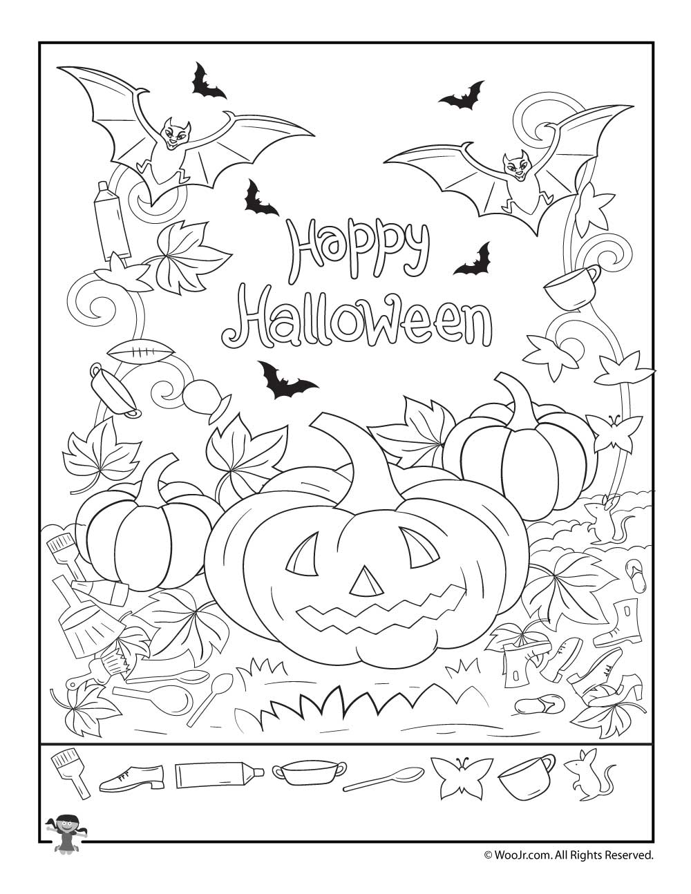 Dashing image regarding halloween hidden pictures printable