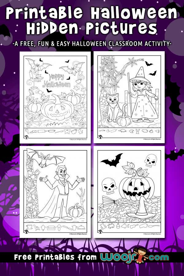 Printable Halloween Hidden Pictures