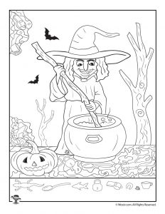 Witch and Cauldron I Spy Worksheet