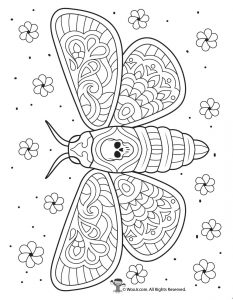 Day of the Dead Moth Intricate Coloring Page