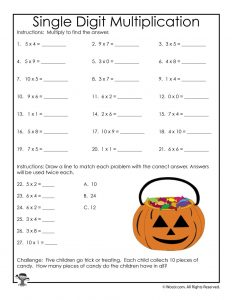 3rd Grade Halloween Math Worksheets: Multiplication and Division ...