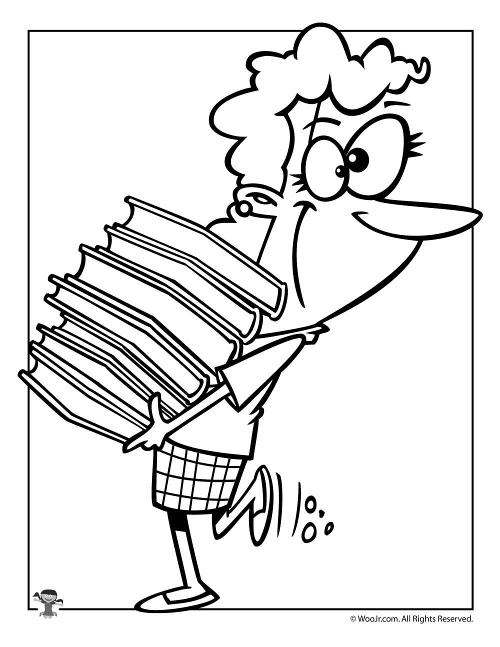 library coloring pages printables - librarian coloring page woo jr kids activities