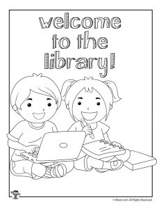 Welcome to the Library Coloring Pages