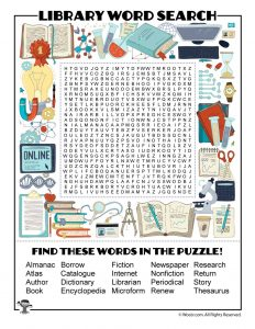 Library Word Search