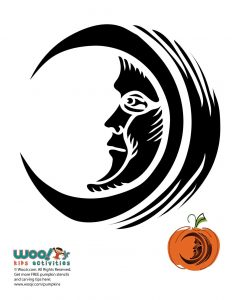 Man in the Moon Pumpkin Stencil