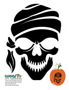 graphic relating to Skeleton Stencil Printable identify Skulls and Skeleton Pumpkin Templates toward Carve Woo! Jr