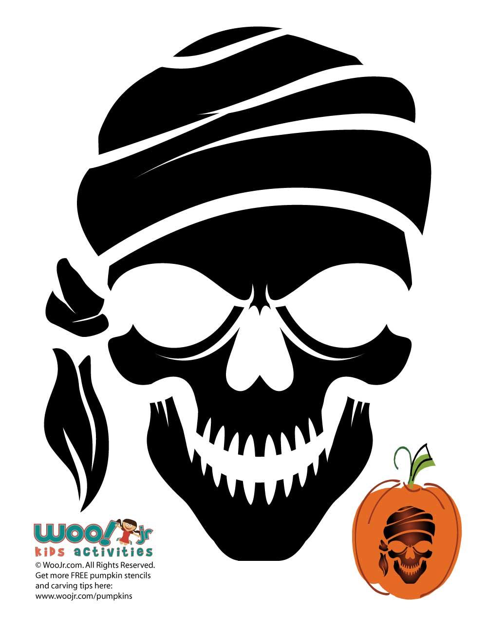 Pirate Skeleton Pumpkin Template | Woo! Jr. Kids Activities