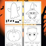 Preschool Halloween Activity Pages: Cut and Paste Halloween Fun Faces!