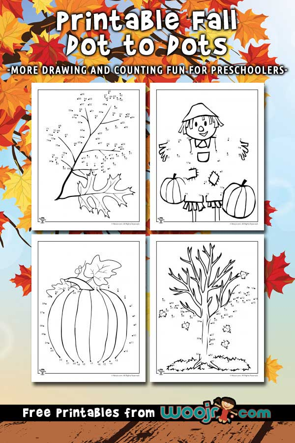Printable Fall Dot to Dots Activity Pages