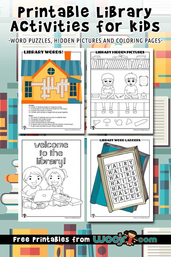 Printable Library Activities for Kids