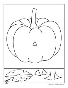 Pumpkin Preschool Halloween Activity Page