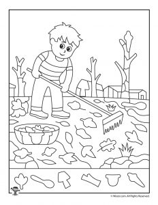 Raking Leaves Find the Item Printable