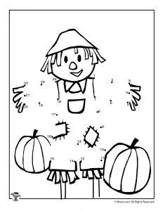 Fall Scarecrow Dot to Dots