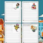 Printable School Writing Prompts Worksheets