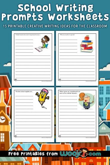 Printable School Writing Prompts Worksheets