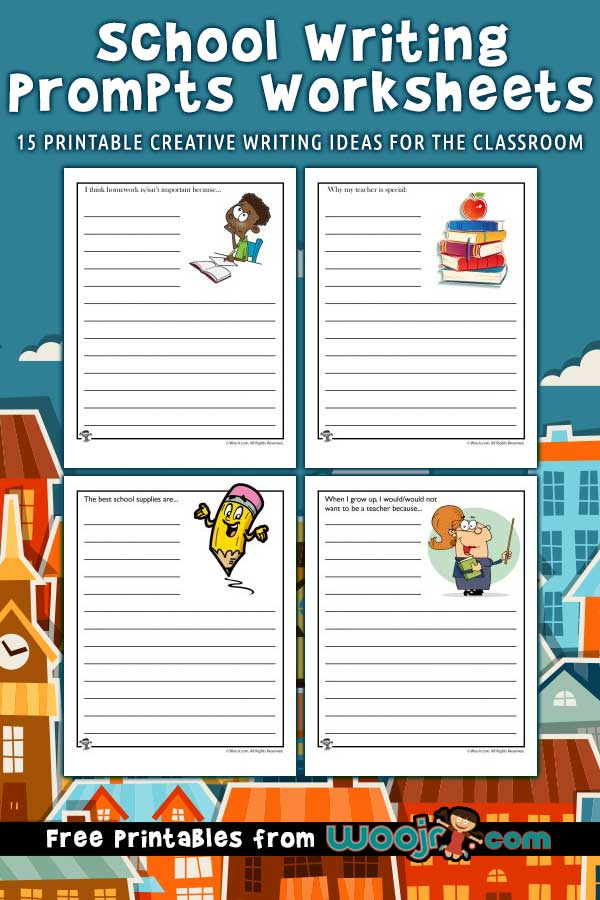 15 Printable School Writing Prompts Worksheets