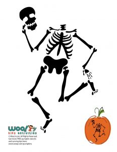 Full Skeleton Pumpkin Template