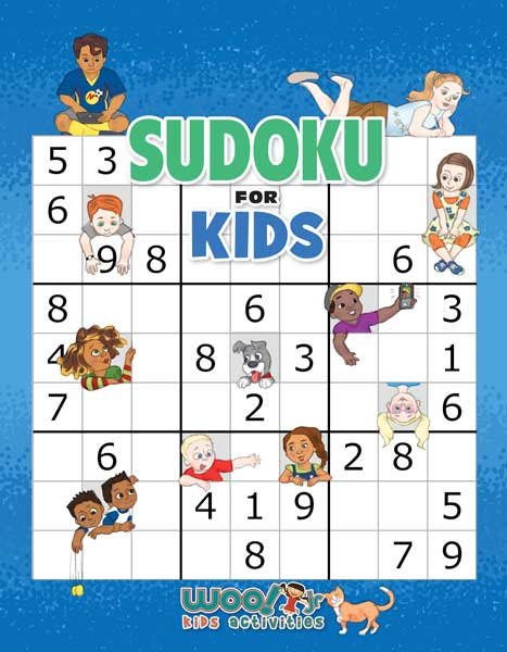 photograph regarding Sudoku for Kids Printable identified as Sudoku for Youngsters Printable Worksheets and Ebook Woo! Jr