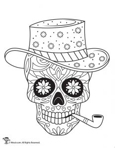 Sugar Skulls Adult Coloring Page
