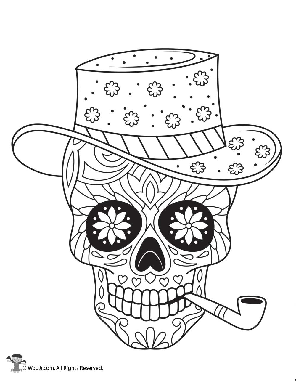 Terrible image pertaining to printable sugar skulls coloring pages