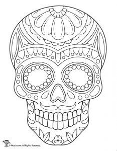 photo about Printable Sugar Skulls Coloring Pages referred to as Working day of the Useless Grownup Coloring Webpages - With Sugar Skulls