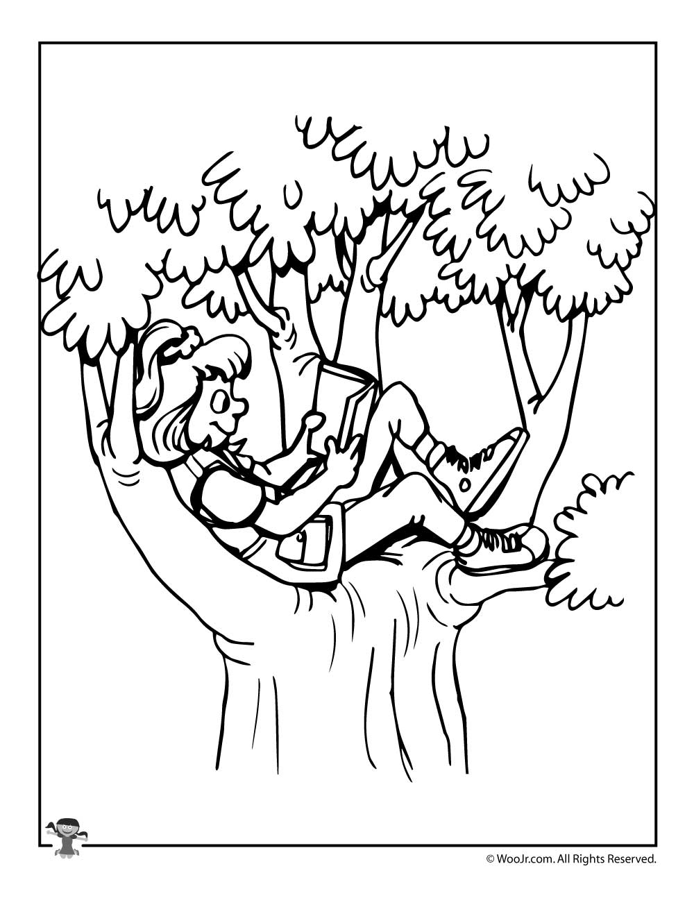 Fun Summer Reading Coloring Page | Woo! Jr. Kids Activities