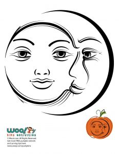 Sun and Moon Pumpkin Stencil