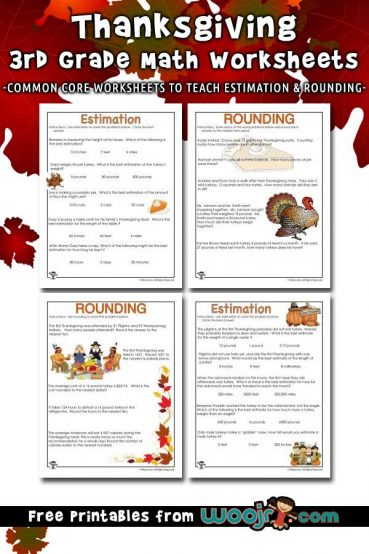 Thanksgiving Math Word Problems – Estimating and Rounding