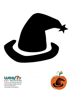 Simple Witch's Hat Pumpkin Template