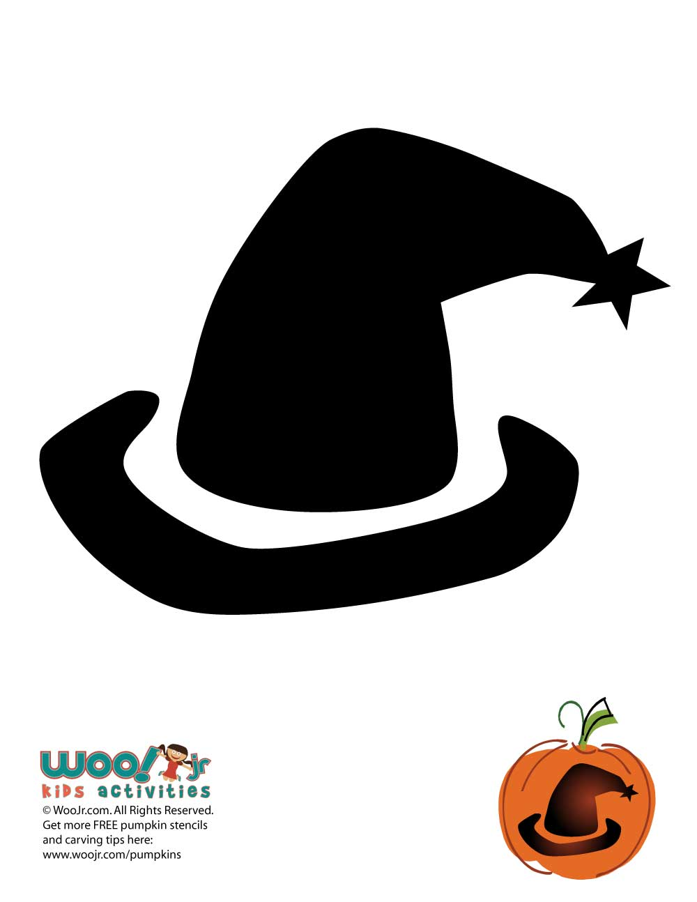 photo about Witches Hat Template Printable named Very simple Witchs Hat Pumpkin Template Woo! Jr. Youngsters Actions