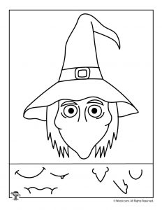 Witch Preschool Halloween Activity Page