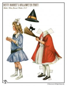 Witch Costume Paper Doll 1917 Betty Bonnet