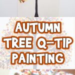 Autumn Tree Q-Tip Painting