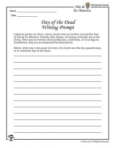 Day of the Dead Poetry Writing Prompt