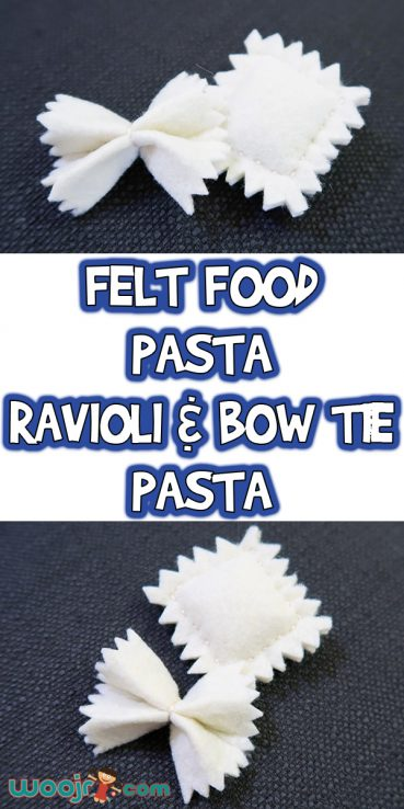 Felt Food Ravioli and Bow Tie Pasta
