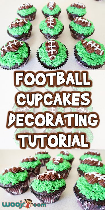Football Cupcakes Decorating Tutorial