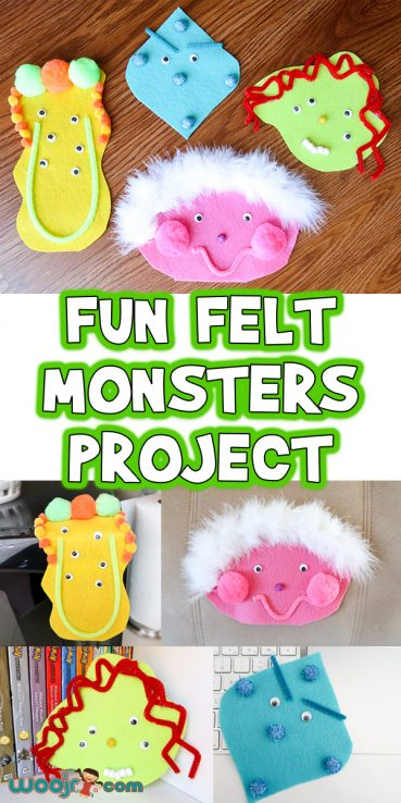 Fun Felt Monsters Kids Craft