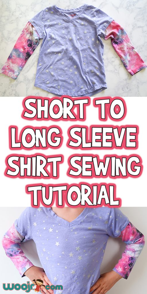 Short to Long Sleeve Shirt Sewing Tutorial