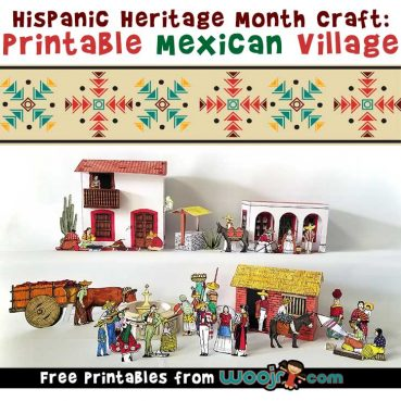 Hispanic Heritage Month Craft: Printable Mexican Village Diorama